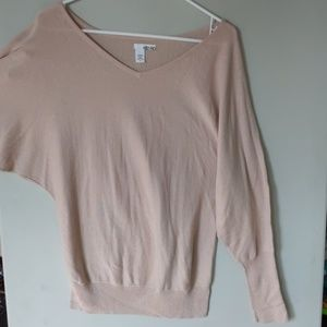 Nude, on the pink side. Blush?  Batwing sweater